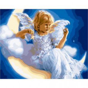 Лунный ангел Раскраска картина по номерам на холсте