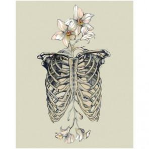 Ребра с цветами Раскраска картина по номерам на холсте