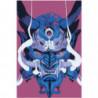 Японская маска демона Раскраска картина по номерам на холсте