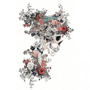 Цветочный череп 80х120 Раскраска картина по номерам на холсте