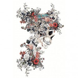 Цветочный череп 100х150 Раскраска картина по номерам на холсте