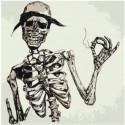 Скелет в шляпе Раскраска картина по номерам на холсте