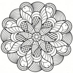 Мандала цветок Раскраска картина по номерам на холсте