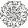 Мандала цветок 100х100 Раскраска картина по номерам на холсте