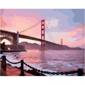 Теплый розовый закат Раскраска картина по номерам на холсте