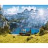 Солнечные горы Раскраска картина по номерам на холсте