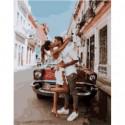 Свидание в переулке Раскраска картина по номерам на холсте