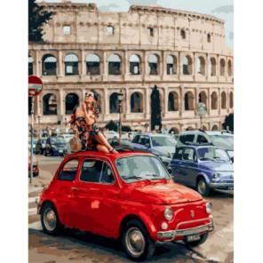 Наслаждаясь Римом Раскраска картина по номерам на холсте