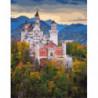 Баварский замок Раскраска картина по номерам на холсте