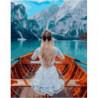 Спокойствие горного озера Раскраска картина по номерам на холсте