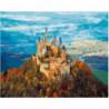 Замок на вершине горы Раскраска картина по номерам на холсте