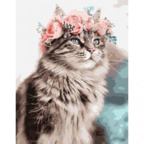 Весенний кот Раскраска картина по номерам на холсте