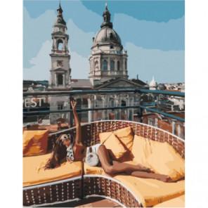 На крыше ресторана Раскраска картина по номерам на холсте