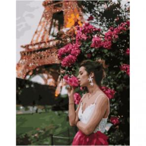 Мерцание Парижа Раскраска картина по номерам на холсте