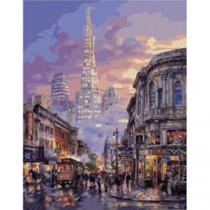 Оживленная улица Раскраска картина по номерам на холсте