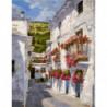 Южный переулок Раскраска картина по номерам на холсте