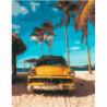 Пляжное такси Раскраска картина по номерам на холсте