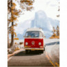 Старый автобус Раскраска картина по номерам на холсте