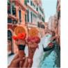 Венецианское мороженое Раскраска картина по номерам на холсте