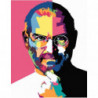 Стив Джобс Раскраска картина по номерам на холсте