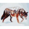 Волчий мир Раскраска картина по номерам на холсте
