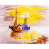 Рыбацкие судна Раскраска картина по номерам на холсте