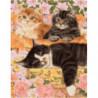 Котята и сон мамы Раскраска картина по номерам на холсте