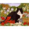 Дачный кот Раскраска картина по номерам на холсте