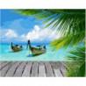 Тайские лодки Раскраска картина по номерам на холсте