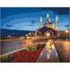 Ночные огни мечети Раскраска картина по номерам на холсте