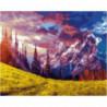 Великолепие гор Раскраска картина по номерам на холсте