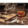 Сигара и виски Раскраска картина по номерам на холсте