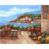 Тепло южного городка Раскраска картина по номерам на холсте