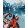 Морозное озеро Раскраска картина по номерам на холсте