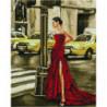 Брюнетка в красном платье Алмазная мозаика вышивка Painting Diamond