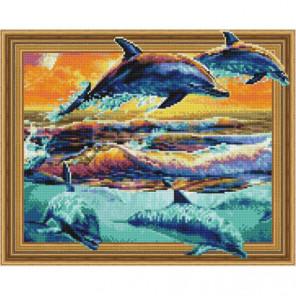 Стая дельфинов Алмазная мозаика вышивка Painting Diamond