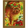 Рыжий кот Алмазная мозаика вышивка Painting Diamond