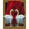 Роза и лебеди Алмазная мозаика вышивка Painting Diamond