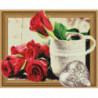 Розы и медальон Алмазная мозаика вышивка Painting Diamond
