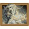 Белый тигр и брызги Алмазная мозаика вышивка Painting Diamond