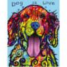 Любовь к собакам Раскраска картина по номерам на холсте