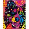 Радостный пес Раскраска картина по номерам на холсте