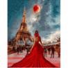 Оттенки красного в Париже Раскраска картина по номерам на холсте