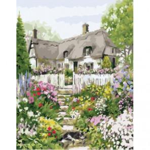 Ступеньки к дому Раскраска картина по номерам на холсте