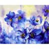 Цветочная синева Раскраска картина по номерам на холсте