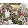 Цветочный дворик Раскраска картина по номерам на холсте