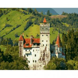 Замок в солнечных горах Раскраска картина по номерам на холсте
