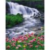 Пенистый водопад Раскраска картина по номерам на холсте