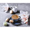 Ванильный кофе Раскраска картина по номерам на холсте