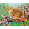Рыжий деревенский кот Раскраска картина по номерам на холсте